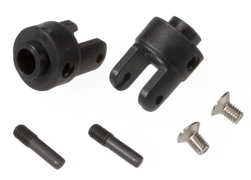 Traxxas Differential output yokes, black (2)/ 3x5mm countersunk screws (2)/ screw pin (2)