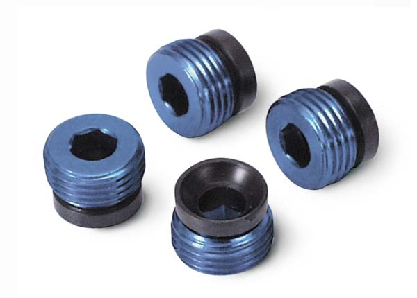 Traxxas Aluminum caps, pivot ball (blue-anodized) (4)