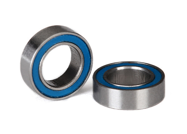 Traxxas Ball bearings, blue rubber sealed (6x10x3mm) (2)