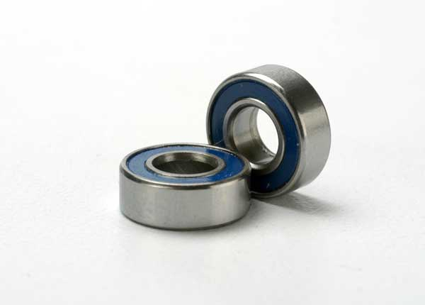 Traxxas Ball bearings, blue rubber sealed (5x11x4mm) (2)