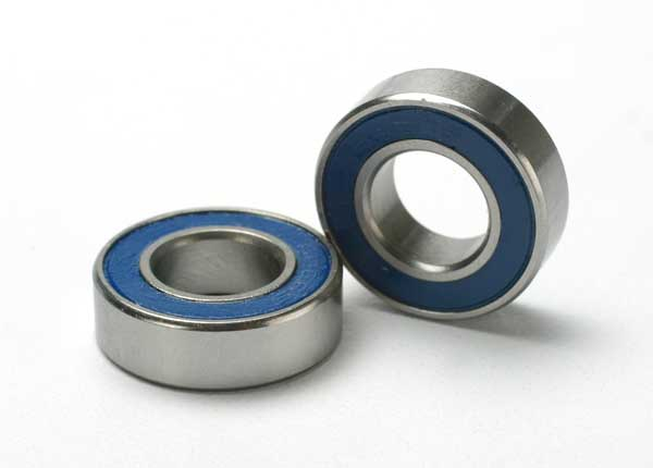 Traxxas Ball bearings, blue rubber sealed (8x16x5mm) (2)