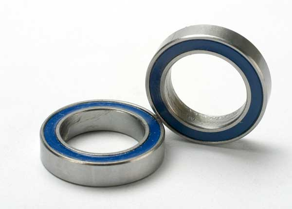 Traxxas Ball bearings, blue rubber sealed (12x18x4mm) (2)