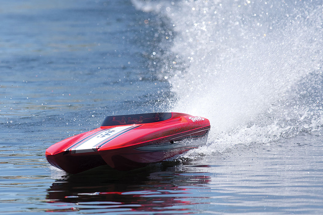 Traxxas Red DCB M41 Widebody:  Brushless 40 Inch Race Boat TQi /TSM