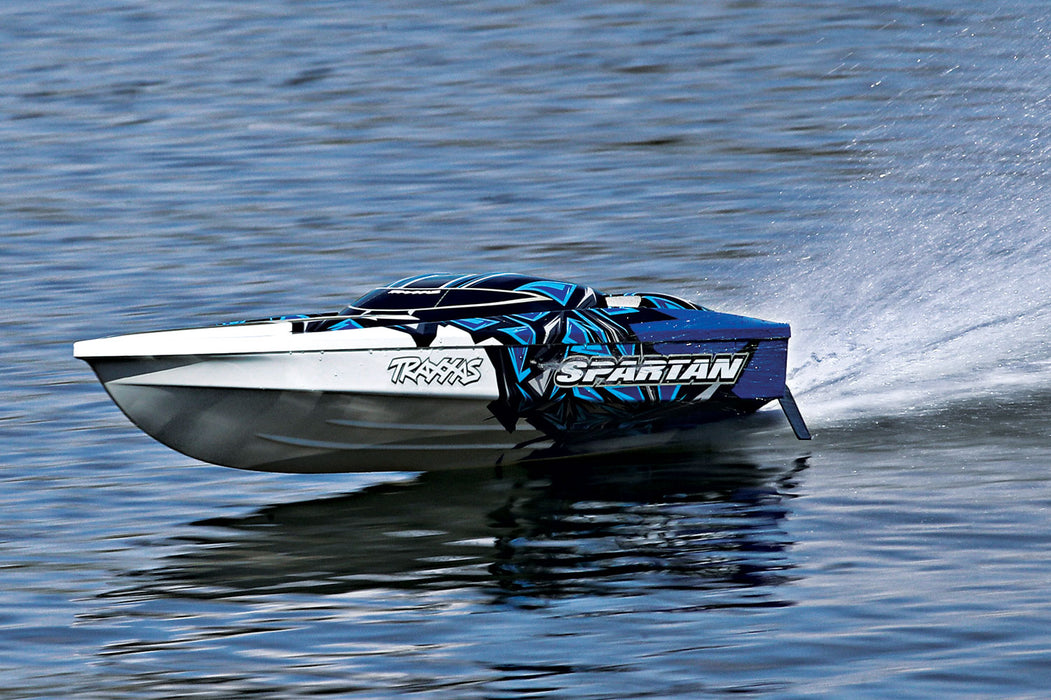 Traxxas Spartan:  Brushless 36' Race Boat with TQi & TSM, NEW RED