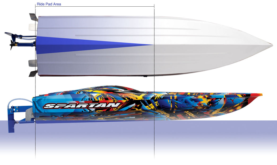 Traxxas Spartan:  Brushless 36' Race Boat with TQi & TSM, Hawaiian