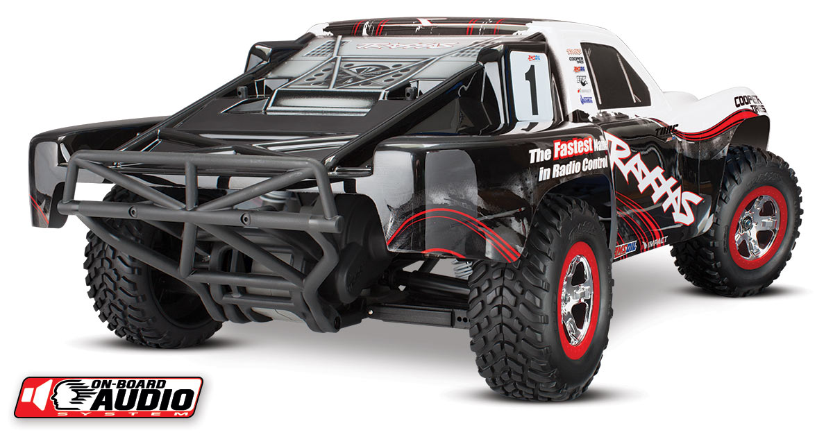 Traxxas Slash: 1/10-Scale 2WD Short Course Racing Truck with TQ , OBA, White