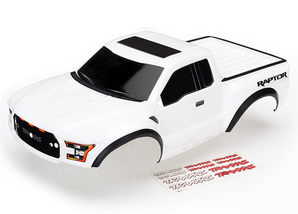 Traxxas Body, 2017 Ford Raptor®, white (heavy duty)/ decals