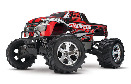 Traxxas Stampede 4X4: 1/10-scale 4WD Monster Truck, Red
