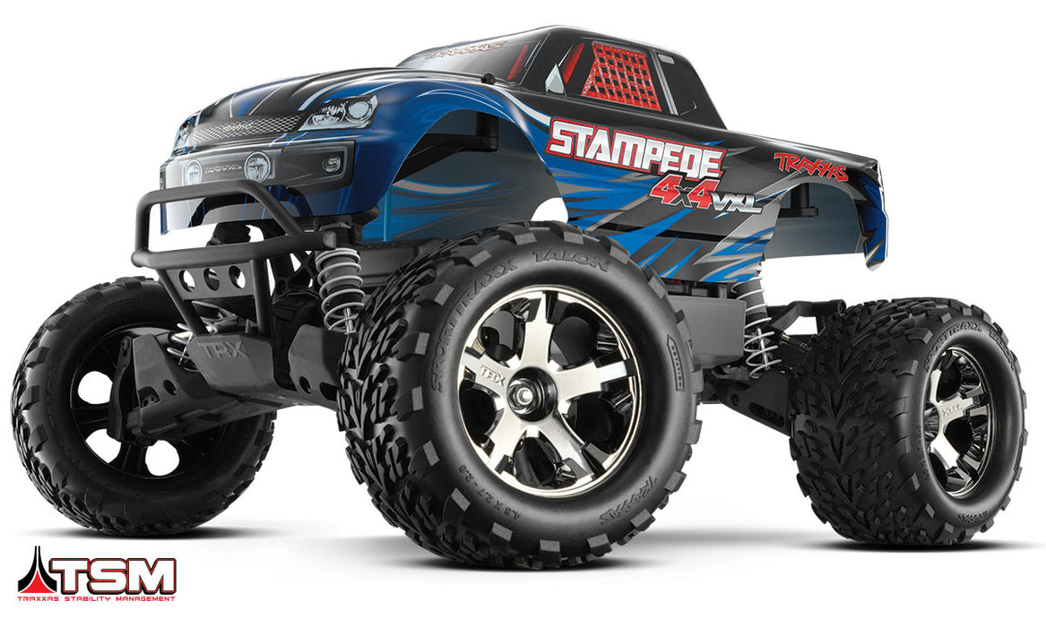 Traxxas Stampede 4X4 VXL:  1/10 Scale Monster Truck with TQi & TSM, Blue