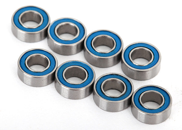 Traxxas Ball bearings, blue rubber sealed (4x8x3mm) (8)