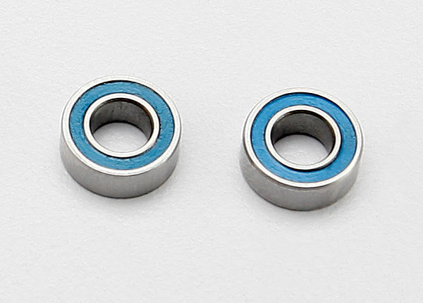 Traxxas Ball bearings, blue rubber sealed (4x8x3mm) (2)