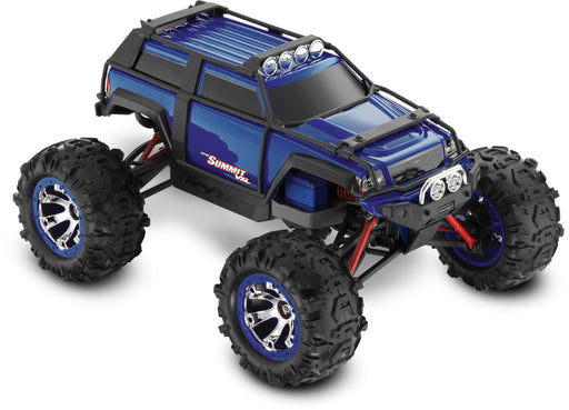 Traxxas Summit VXL: 1/16-Scale 4WD Electric Extreme Terrain Monster Truck with TQi & TSM, Blue