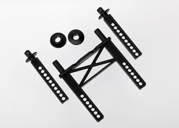 Traxxas Body mount, rear/ body mount posts, front (2)/ body washer, rear (2) (for Mustang body)
