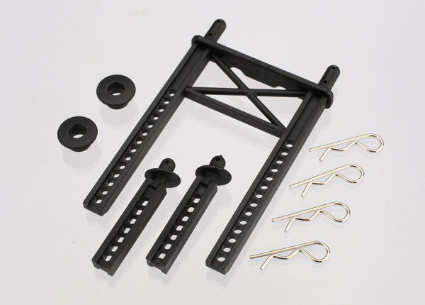 Traxxas Body mount, rear/ body mount posts, front (2)/body washer, rear (2) (for Fiesta/Rally body)