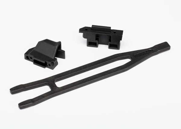 Traxxas Battery hold-down (1)/ hold-down retainer, front  and  rear (1 each)