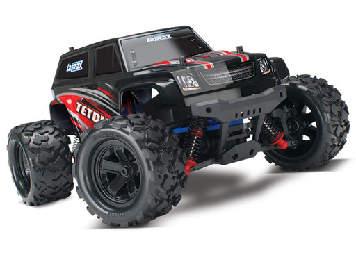 Traxxas LaTrax Teton: 1/18 Scale 4WD Electric Monster Truck Red