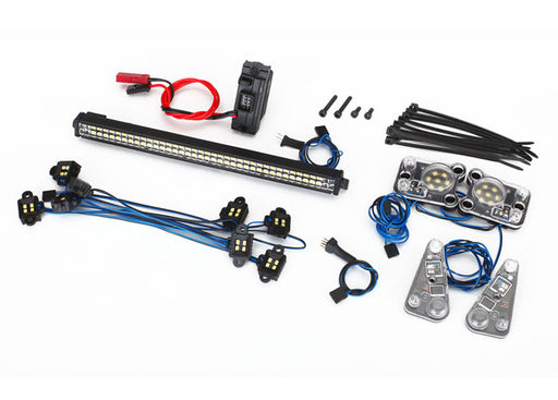 Traxxas LED light set, complete (contains rock light kit, LED light bar (Rigid®), LED headlight/tail light kit, power supply, and 3-in-1 wire harness) (fits #8011 body)
