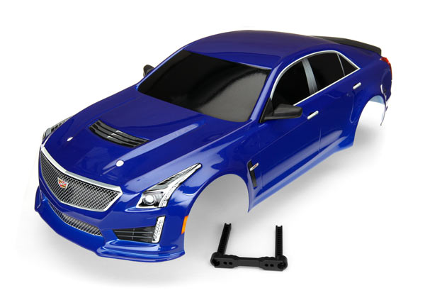 Traxxas BODY, CADILLAC CTS-V, BLUE (PAINTED, DECALS APPLIE