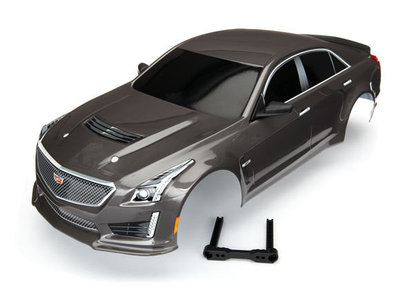 Traxxas BODY, CADILLAC CTS-V, SILVER (PAINTED, DECALS APPL
