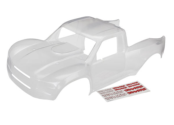 Traxxas Body, Desert Racer (clear, trimmed, requires painting)/ decal sheet