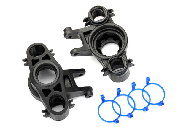 Traxxas Axle carriers, left  and  right (1 each) (use with 8x16mm  and  17x26mm ball bearings)/ dust boot retainers (4)