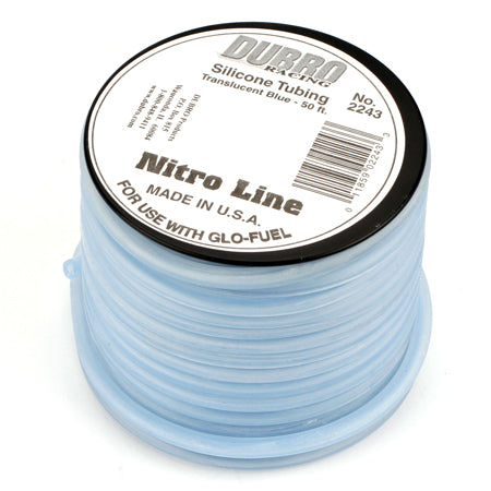 Dubro 2243 Silicone 50' Fuel Tubing, Blue
