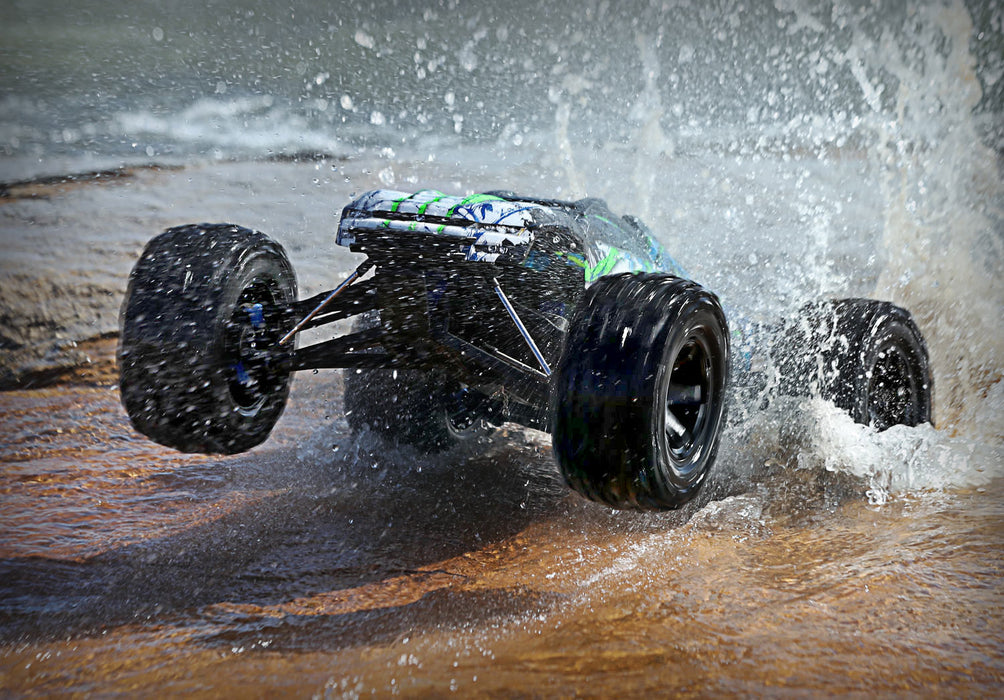 Traxxas E-Revo VXL Brushless:  1/10 Scale 4WD Brushless w/ TQi 2.4GHz & TSM Green