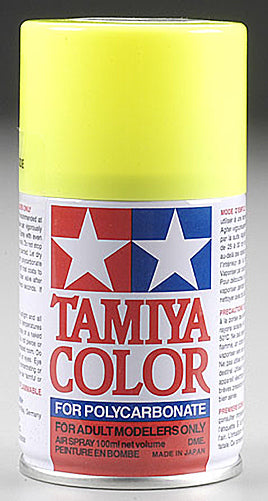 Tamiya 86027 PS-27 Fluorescent Yellow Spray, 100 ml
