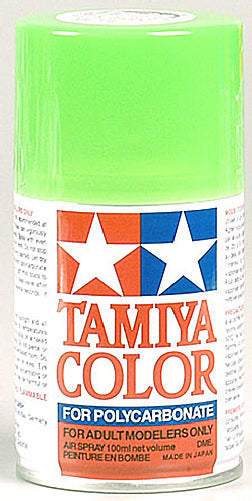 Tamiya 86028 PS-28 Fluorescent Green Spray, 100 ml