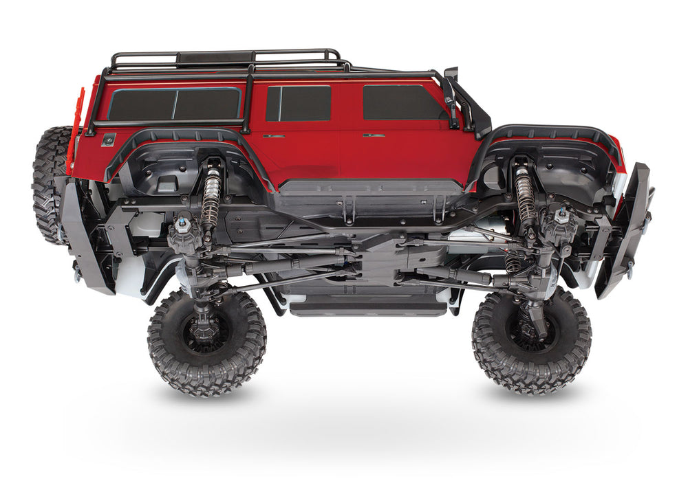 Traxxas TRX-4 Scale and Trail Crawler with Land Rover® Defender® Body:  4WD Electric Trail Truck with TQi Red