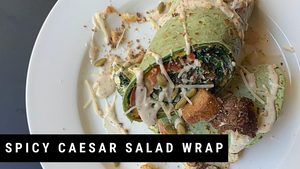 Spicy Caesar Salad Wrap