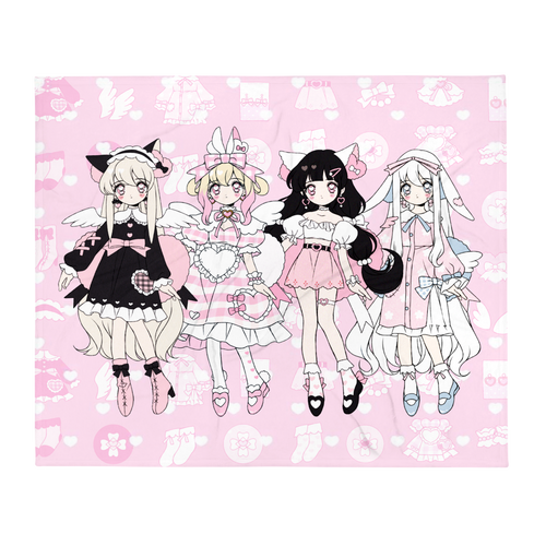 Heartpuff Doll Throw Blanket
