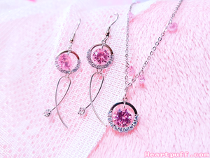 Pink Delight (Necklace + Earrings)