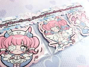 Heartpuff Nurse Bunny Sticker Pack