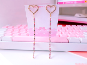 Heart Spill Earrings