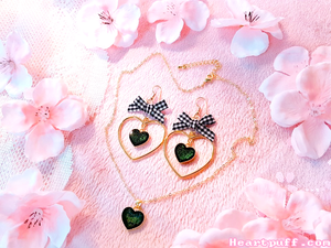 Blackberry Tart (Necklace + Earrings)