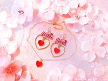 Load image into Gallery viewer, Apple Tart (Necklace + Earrings)