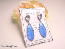 Load image into Gallery viewer, Sapphire Drop Earrings