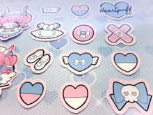 Load image into Gallery viewer, Heartpuff Nurse Bunny Sticker Pack