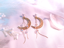 Load image into Gallery viewer, Crescent Rain Earrings