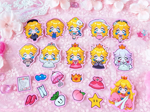 Princess Peach Sticker Pack of 21