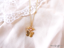 Load image into Gallery viewer, Butterfly Reverie (Necklace + Earrings)