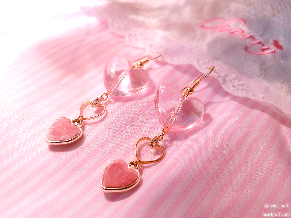 Bubble Heart Earrings
