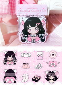 Heartpuff Doll Sticker Packs