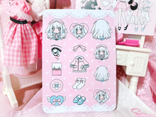 Load image into Gallery viewer, Heartpuff Doll Sticker Sheets