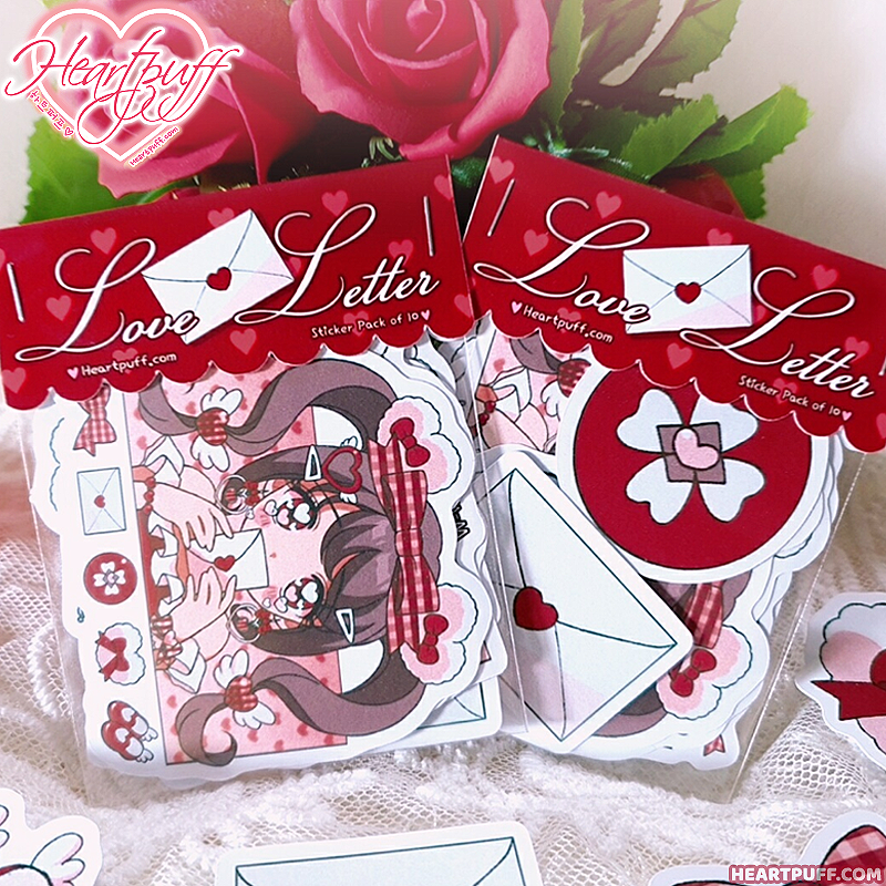 Heartpuff Love Letter Sticker Pack