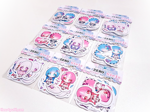 Re:ZERO Girls Sticker Pack of 20
