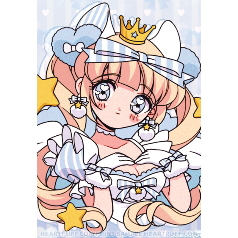 Heartpuff Star Angel Print