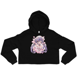 Heartpuff Kitty Cropped Hoodie