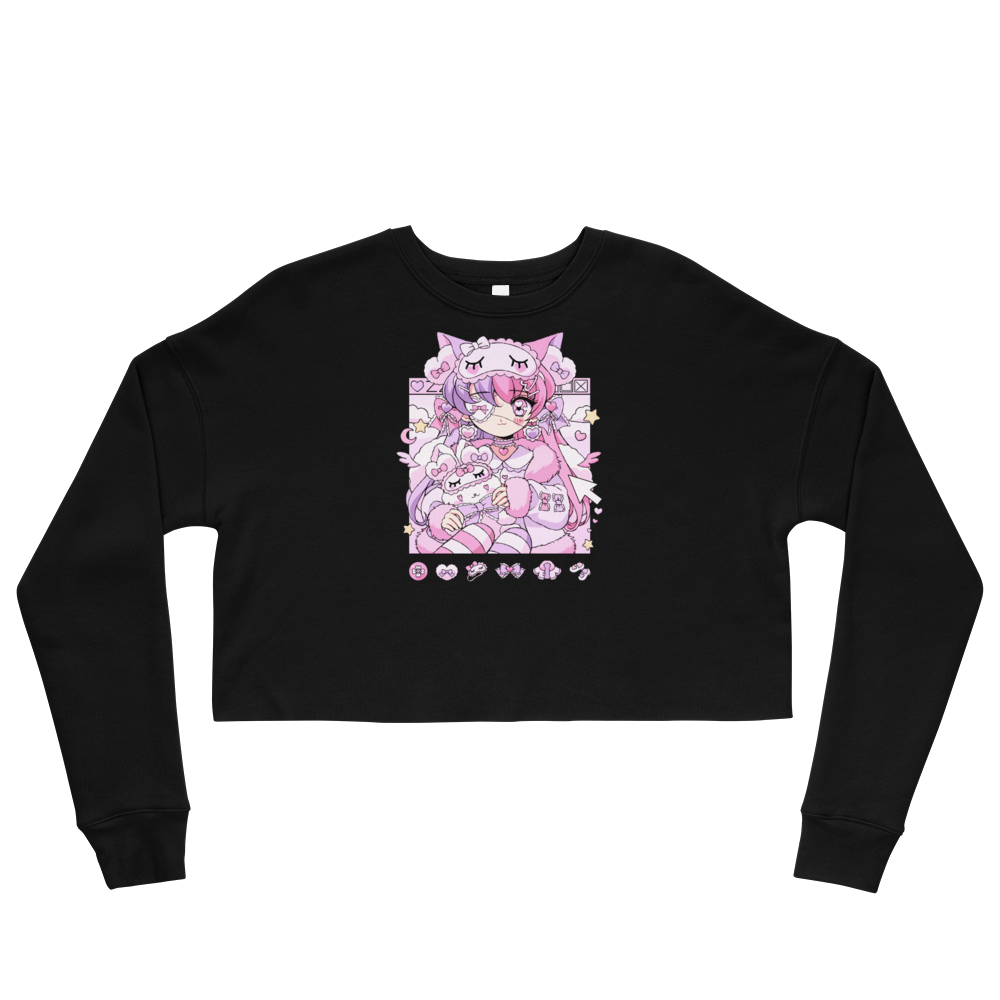 Heartpuff Sleepover Cropped Sweatshirt